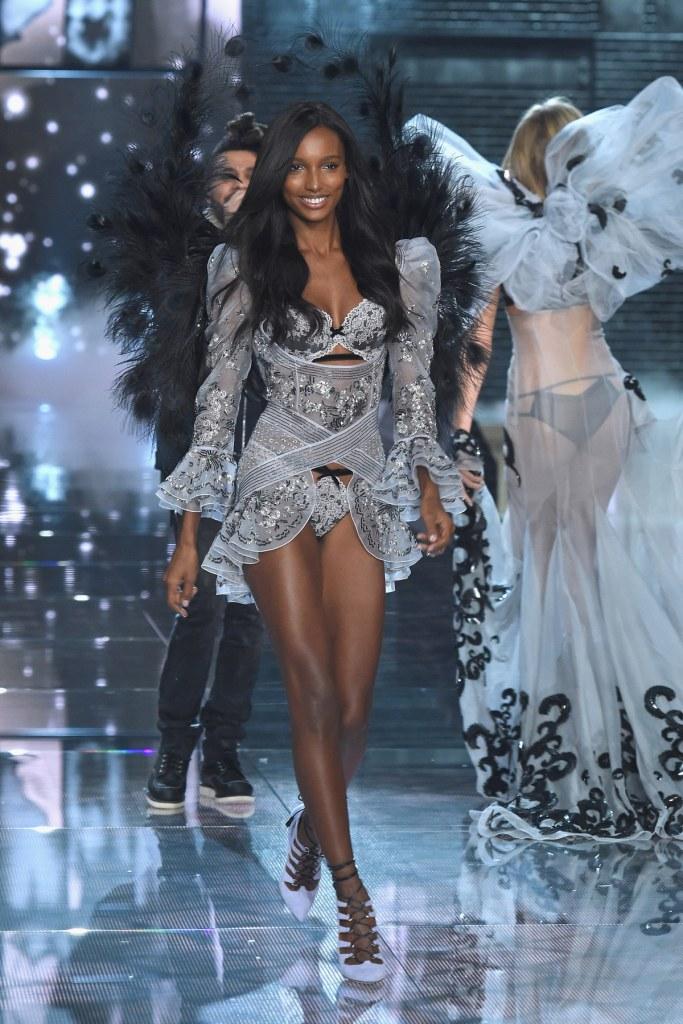NEW YORK, NY - NOVEMBER 10: Model and new Victoria's Secret Angel Jasmine Tookes from California walks the runway during the 2015 Victoria's Secret Fashion Show at Lexington Avenue Armory on November 10, 2015 in New York City. (Photo by Dimitrios Kambouris/Getty Images for Victoria's Secret)