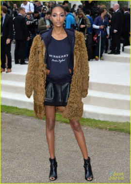 LONDON, ENGLAND - SEPTEMBER 21: Jourdan Dunn attends the Burberry Prorsum show during London Fashion Week Spring/Summer 2016/17 on September 21, 2015 in London, England. (Photo by Anthony Harvey/Getty Images)